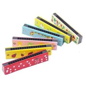 Harmonica en bois coloré pour enfant jeu Montessori