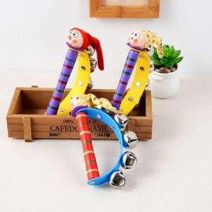 Hochet avec Poignée de Grelots lutin jeu Montessori
