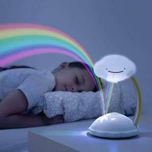 Veilleuse pour enfant nuage avec projection arc-en-ciel lampe