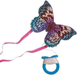 Cerf-volant papillon brillant avec rubans