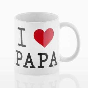Tasse I Love Papa Mug fêtes de peres et anniversaire