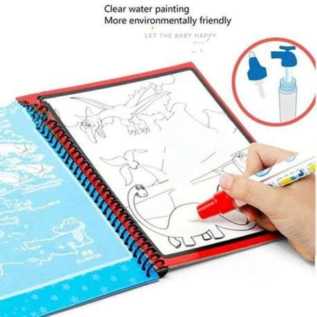 Livre de coloriage magique avec feutre fonctionnant à l'eau licorne