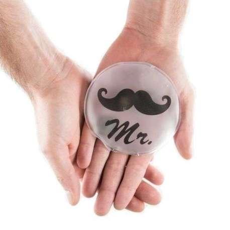 Chaufferette monsieur avec motif moustache chauffe main