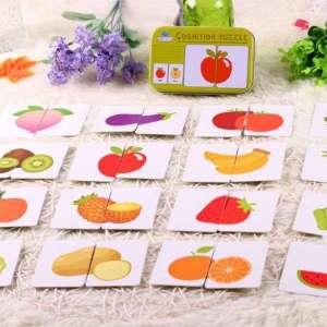 Boîte de puzzle à assembler fruits et légumes Montessori