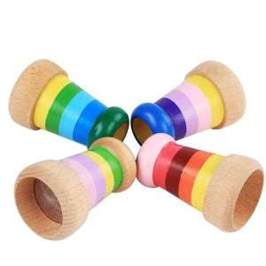 Kaléidoscope vision prisme fait en bois jeu Montessori