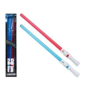 2 épées sabre laser rouge et bleu avec effets lumineux et sonores