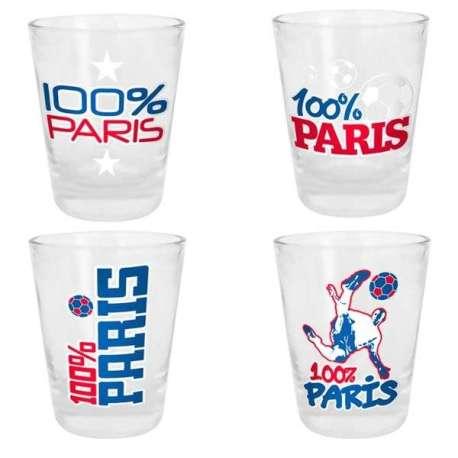 Verre shooter Paris ( lot de 4) shot 100% Paris