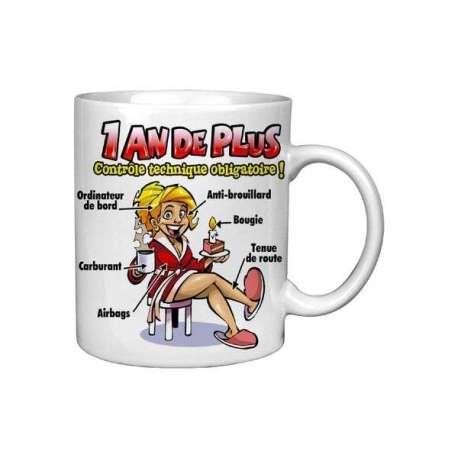 Tasse à café d'anniversaire 1 an de plus mug original