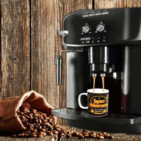 Tasse café expresso joyeux anniversaire mug original