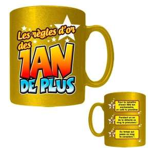 Tasse règles d'or des un an de plus mug anniversaire