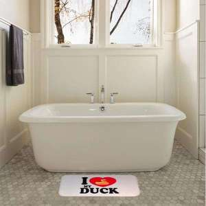 Tapis de douche motif canard I love my duck tapis de bain