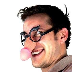 Lunettes humoristique avec nez zizi