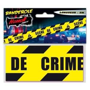 Banderole ruban scène de crime pour Halloween (9 mètres)