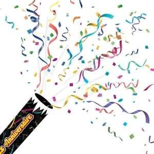 Lanceur de confettis et rubans joyeux anniversaire