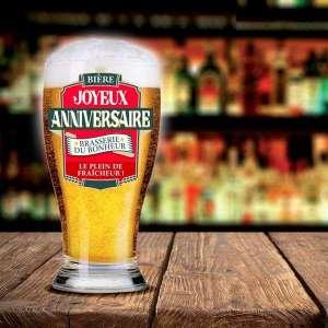 Verre à bière joyeux anniversaire chope