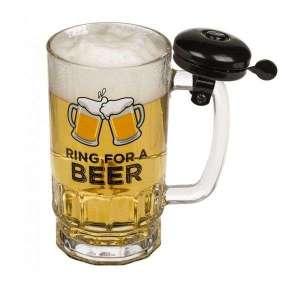 Chope de Bière avec Sonnette verre 500 ml