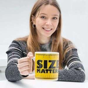 Mug XXL Size Matters Tasse avec motif mètre ruban 850 ml