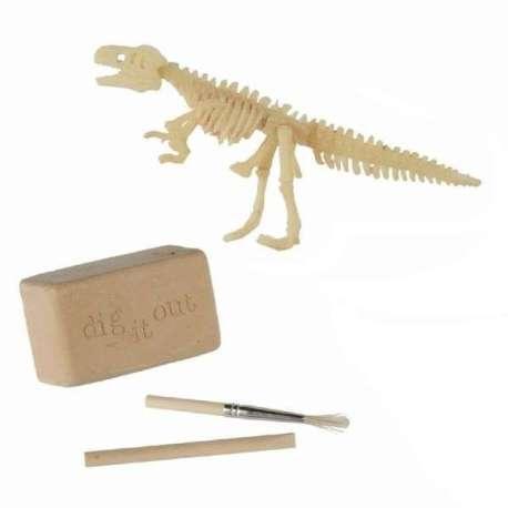 Jeu de fouille archéologique squelette de dinosaure avec accessoire