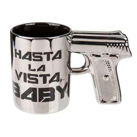 Tasse avec poignée Mug pistolet hasta la vista baby