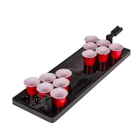 Jeu à boire mini beer pong avec 2 catapultes