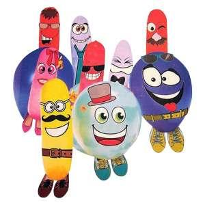 Lot de ballons à décorer avec accessoires de déguisement à coller