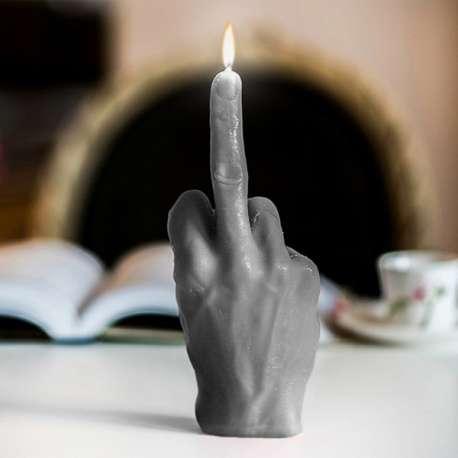 Bougie XXL main faisant un doigt d'honneur fuck