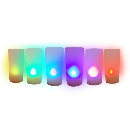 Bougie polychrome à LED