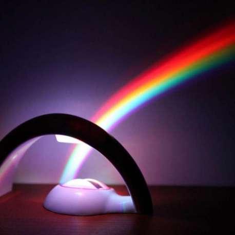 Lampe projection arc-en-ciel LED veilleuse