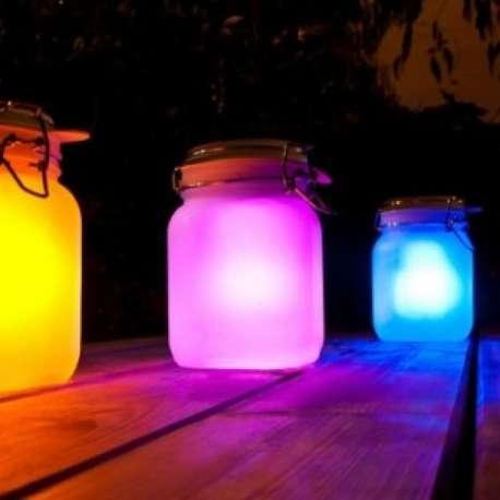 Bocal solaire LED à éclairage arc-en-ciel