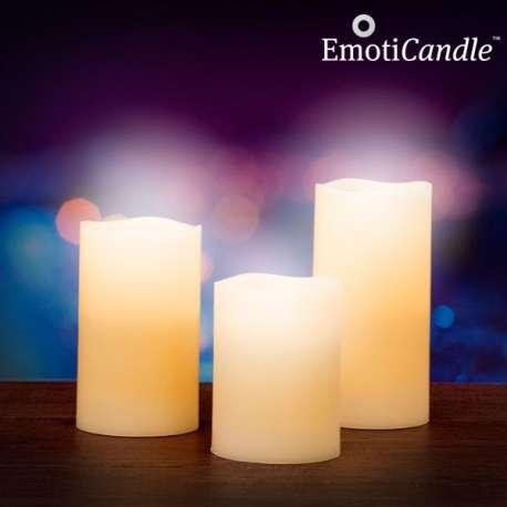 Bougies en cire à flamme LED avec capteur de souffle