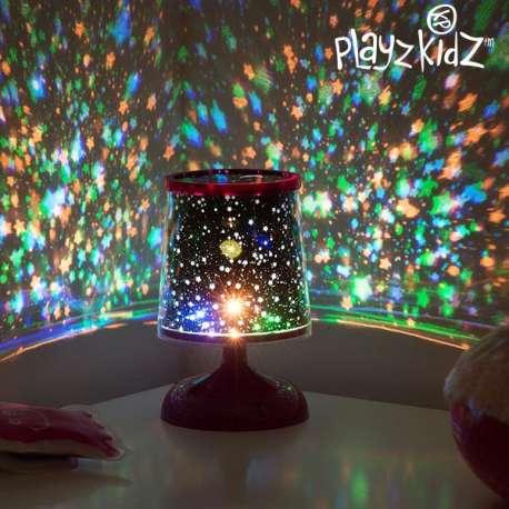 Veilleuse lampe LED projection de ciel étoilé multicolore