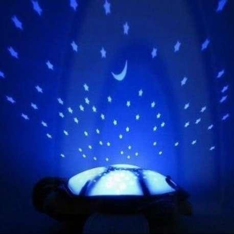 Tortue veilleuse en peluche projection ciel étoilé lumineuse
