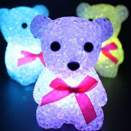 Lampe ourson spéciale à LED 7 couleurs veilleuse