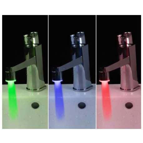 Mitigeur de robinet à LED 1 embout robinet lumineux, deux adaptateurs