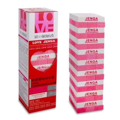 Jeu Jenga Love en bois Anglais / chinois sexy