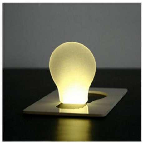 Carte lumière pour portefeuille à LED lampe de poche