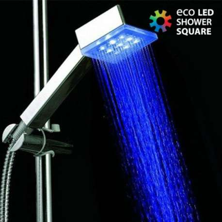 Pommeau de douche carrée avec LEDS intégrées lumineux