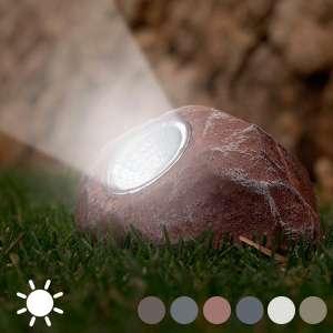 Lampe à énergie solaire en forme de pierre