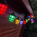 Guirlande de 20 lampions à LED colorés lumineux