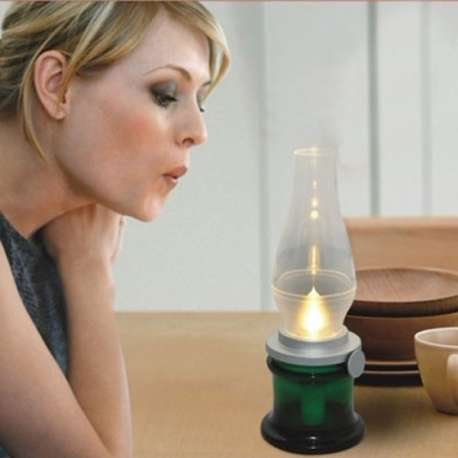 Lampe LED contrôlée par le souffle rechargeable
