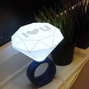 Lampe bague LED diamant Lampe de chevet veilleuse