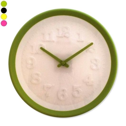 Horloge color e cadran blanc avec chiffres en relief - Horloge double cadran ...