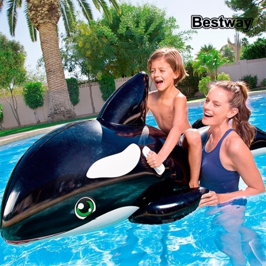Orque gonflable bou e baleine piscine mer for Rustine piscine gonflable