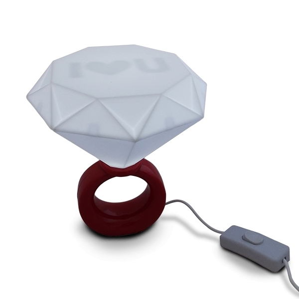 Lampe bague LED diamant Lampe de chevet veilleuse bleu eBay