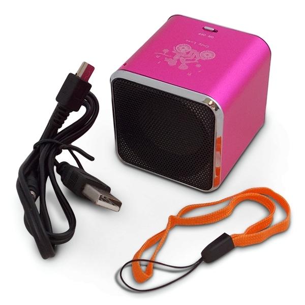 mini enceinte haut parleur cube mp3 sd radio usb bleu ebay. Black Bedroom Furniture Sets. Home Design Ideas